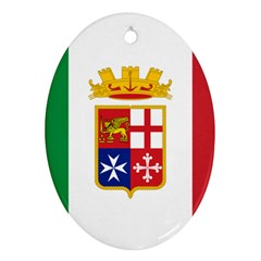 Naval Ensign Of Italy Oval Ornament (two Sides) by abbeyz71