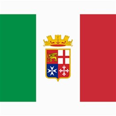 Naval Ensign Of Italy Canvas 36  X 48   by abbeyz71