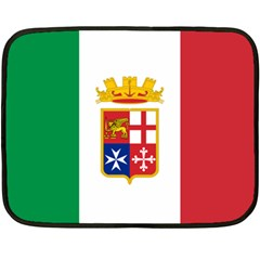 Naval Ensign Of Italy Fleece Blanket (mini) by abbeyz71