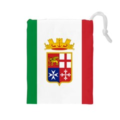 Naval Ensign Of Italy Drawstring Pouches (large)  by abbeyz71