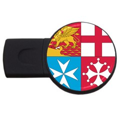 Naval Jack Of Italian Navy  Usb Flash Drive Round (4 Gb) by abbeyz71