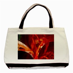 Red Abstract Pattern Texture Basic Tote Bag (two Sides) by Nexatart