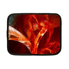 Red Abstract Pattern Texture Netbook Case (small)  by Nexatart