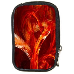 Red Abstract Pattern Texture Compact Camera Cases