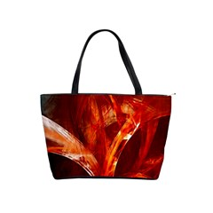Red Abstract Pattern Texture Shoulder Handbags by Nexatart