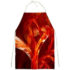 Red Abstract Pattern Texture Full Print Aprons