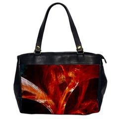 Red Abstract Pattern Texture Office Handbags by Nexatart