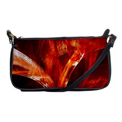 Red Abstract Pattern Texture Shoulder Clutch Bags