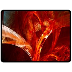 Red Abstract Pattern Texture Fleece Blanket (large)