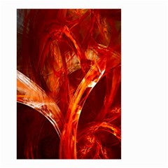Red Abstract Pattern Texture Small Garden Flag (two Sides) by Nexatart