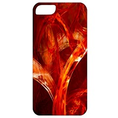 Red Abstract Pattern Texture Apple Iphone 5 Classic Hardshell Case by Nexatart