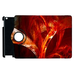 Red Abstract Pattern Texture Apple Ipad 3/4 Flip 360 Case by Nexatart