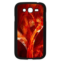 Red Abstract Pattern Texture Samsung Galaxy Grand Duos I9082 Case (black) by Nexatart
