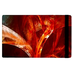 Red Abstract Pattern Texture Apple Ipad Pro 9 7   Flip Case