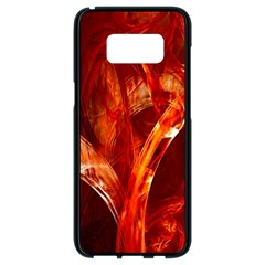 Red Abstract Pattern Texture Samsung Galaxy S8 Black Seamless Case