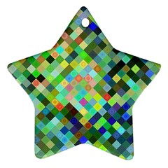 Pixel Pattern A Completely Seamless Background Design Ornament (star)