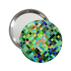 Pixel Pattern A Completely Seamless Background Design 2 25  Handbag Mirrors by Nexatart