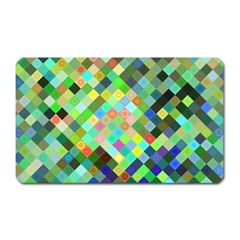Pixel Pattern A Completely Seamless Background Design Magnet (rectangular) by Nexatart