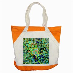 Pixel Pattern A Completely Seamless Background Design Accent Tote Bag