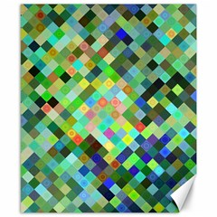 Pixel Pattern A Completely Seamless Background Design Canvas 8  X 10  by Nexatart
