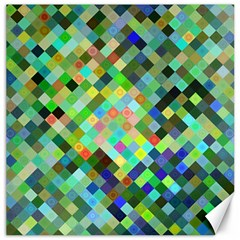 Pixel Pattern A Completely Seamless Background Design Canvas 12  X 12   by Nexatart