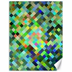 Pixel Pattern A Completely Seamless Background Design Canvas 18  X 24   by Nexatart