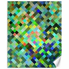 Pixel Pattern A Completely Seamless Background Design Canvas 11  X 14   by Nexatart