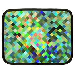 Pixel Pattern A Completely Seamless Background Design Netbook Case (large) by Nexatart