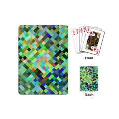 Pixel Pattern A Completely Seamless Background Design Playing Cards (mini)  by Nexatart