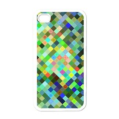 Pixel Pattern A Completely Seamless Background Design Apple Iphone 4 Case (white) by Nexatart
