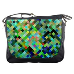 Pixel Pattern A Completely Seamless Background Design Messenger Bags by Nexatart