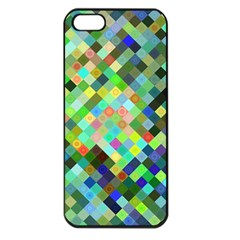 Pixel Pattern A Completely Seamless Background Design Apple Iphone 5 Seamless Case (black) by Nexatart