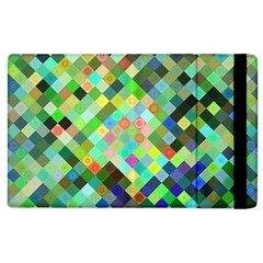 Pixel Pattern A Completely Seamless Background Design Apple Ipad 2 Flip Case