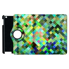 Pixel Pattern A Completely Seamless Background Design Apple Ipad 3/4 Flip 360 Case by Nexatart