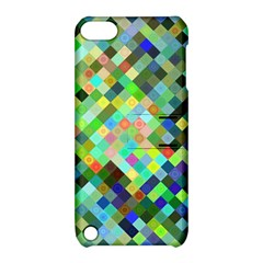 Pixel Pattern A Completely Seamless Background Design Apple Ipod Touch 5 Hardshell Case With Stand by Nexatart