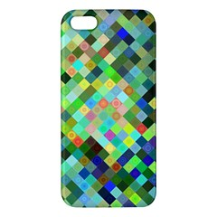 Pixel Pattern A Completely Seamless Background Design Iphone 5s/ Se Premium Hardshell Case by Nexatart