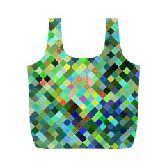 Pixel Pattern A Completely Seamless Background Design Full Print Recycle Bags (m)  by Nexatart