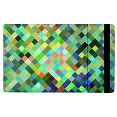 Pixel Pattern A Completely Seamless Background Design Apple Ipad Pro 9 7   Flip Case by Nexatart