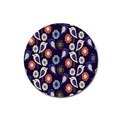 Cute Birds Seamless Pattern Magnet 3  (round) by Nexatart