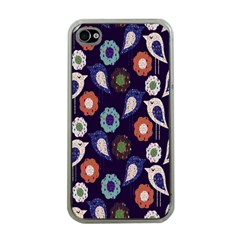 Cute Birds Seamless Pattern Apple Iphone 4 Case (clear)