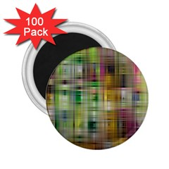 Woven Colorful Abstract Background Of A Tight Weave Pattern 2 25  Magnets (100 Pack)  by Nexatart