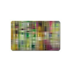 Woven Colorful Abstract Background Of A Tight Weave Pattern Magnet (name Card) by Nexatart