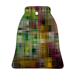 Woven Colorful Abstract Background Of A Tight Weave Pattern Bell Ornament (two Sides) by Nexatart