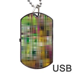 Woven Colorful Abstract Background Of A Tight Weave Pattern Dog Tag Usb Flash (two Sides) by Nexatart