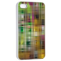 Woven Colorful Abstract Background Of A Tight Weave Pattern Apple Iphone 4/4s Seamless Case (white) by Nexatart