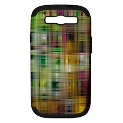 Woven Colorful Abstract Background Of A Tight Weave Pattern Samsung Galaxy S Iii Hardshell Case (pc+silicone) by Nexatart