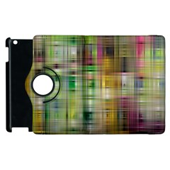 Woven Colorful Abstract Background Of A Tight Weave Pattern Apple Ipad 3/4 Flip 360 Case by Nexatart