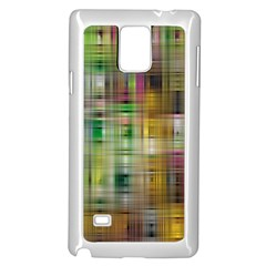 Woven Colorful Abstract Background Of A Tight Weave Pattern Samsung Galaxy Note 4 Case (white)