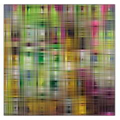 Woven Colorful Abstract Background Of A Tight Weave Pattern Large Satin Scarf (square) by Nexatart