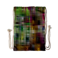 Woven Colorful Abstract Background Of A Tight Weave Pattern Drawstring Bag (small) by Nexatart